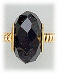 add-a-bead Black crystal with gold grommet