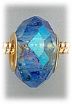 add-a-bead Blue aurora borealis crystal with gold grommet