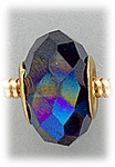 add-a-bead Cobalt aurora borealis crystal with gold grommet