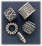 add a bead five bead set antique silver spacer beads