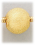add-a-bead Gold 12mm round with stardust design