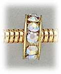 Add a bead gold aurora borealis crystal bead