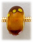 Add A Bead Gold brown with yellow glass