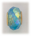 add-a-bead gold turquoise crystal