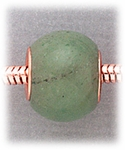add-a-bead Green aventurine rondelle with copper grommet
