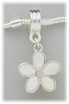 add-a-bead mother of pearl and crystal flower charm