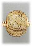 add-a-bead Picture jasper rondelle with gold grommet