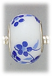 add-a-bead porcelain white with blue flowers