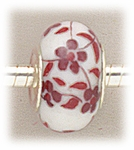 add-a-bead porcelain with white and burgundy flowers