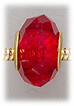 add-a-bead Red crystal with gold grommet