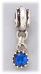 add-a-bead silver and blue crystal charm