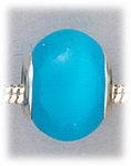 Add-a-bead silver and turquoise cats eye