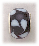 add-a-bead silver black fat white swirls