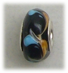 add-a-bead silver black tan light blue swirl