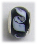 add-a-bead silver black white waves