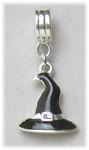 add-a-bead silver black witch hat bracelet charm