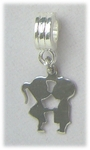 add-a-bead silver boy girl charm