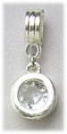 add-a-bead silver cry bezel charm