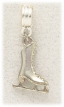 add-a-bead silver ice skating charm