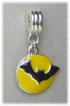 add-a-bead silver moon & bat bracelet charm