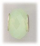 add-a-bead silver opalescent green crystal