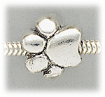 add-a-bead silver paw print