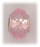 add-a-bead silver pink crystal