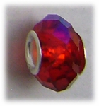 add-a-bead silver red aurora borealis crystal