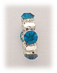 add-a-bead silver ring with teal crystal