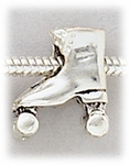 add-a-bead silver roller-skate