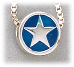 add-a-bead silver round with star and blue enamel