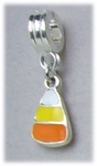 add-a-bead silver small candy corn bracelet charm