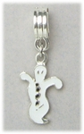 add-a-bead silver small ghost bracelet charm