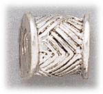 add-a-bead silver solid basket weave