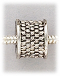add-a-bead silver textured barrel