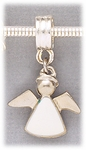add-a-bead silver white angel charm