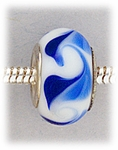 add-a-bead silver white blue swirls