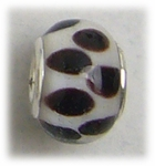 add-a-bead silver white brown dots