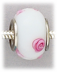 add-a-bead silver white pink swirls dots