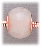 add-a-bead Snow quartz rondelle with copper grommet