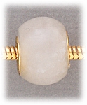 add-a-bead Snow quartz rondelle with gold grommet