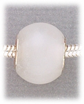 add-a-bead Snow quartz rondelle with silver grommet