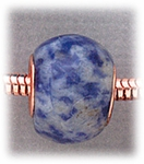 add-a-bead Sodalite rondelle with copper grommet