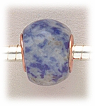 add-a-bead Sodalite rondelle with gold grommet