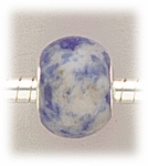 add-a-bead Sodalite rondelle with silver grommet