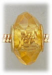 add-a-bead Yellow crystal with gold grommet