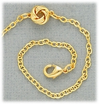 Anklet gold chain with tiny knot accent