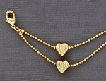 Anklet Gold Double Heart