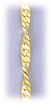 Bracelet chain gold twist serpentine 8 inches