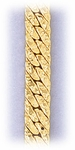 Bracelet Gold Flat Nugget Chain 8-1/2 inch